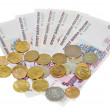 Banknotes, coins, money — Stock Photo