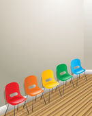 Waiting room chairs — Stock Vector