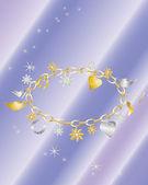 Charm bracelet — Stock Vector