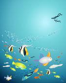 Zdjęć podwodnych — Wektor stockowy