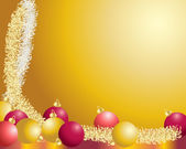 Baubles and tinsel — Wektor stockowy
