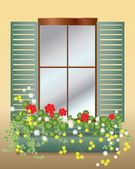 Window box — Stock Vector