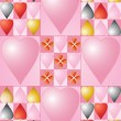 Valentine tiles — Stock Vector