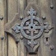 Medieval door detail — Stock Photo