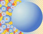 Blumen hintergrund mit globus — Stockvektor