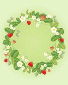 Strawberry wreath — Stock Vector