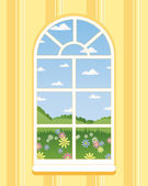 Arched window — Stock Vector