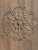 Decorative medieval ironwork — Stock Photo