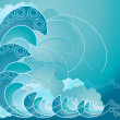 Crest of wave — Vector de stock #5322234