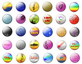 Bright buttons on a white background — Stock Photo