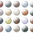 Glossy Marble buttons — Stock Photo