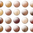 Glossy Wooden buttons — Stock Photo