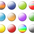 Set Multicolored Buttons — Stock Photo