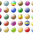 Stock Photo: Textural Multicolored buttons