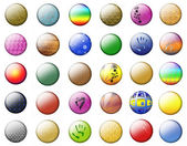 Textural Multicolored buttons — Stock Photo