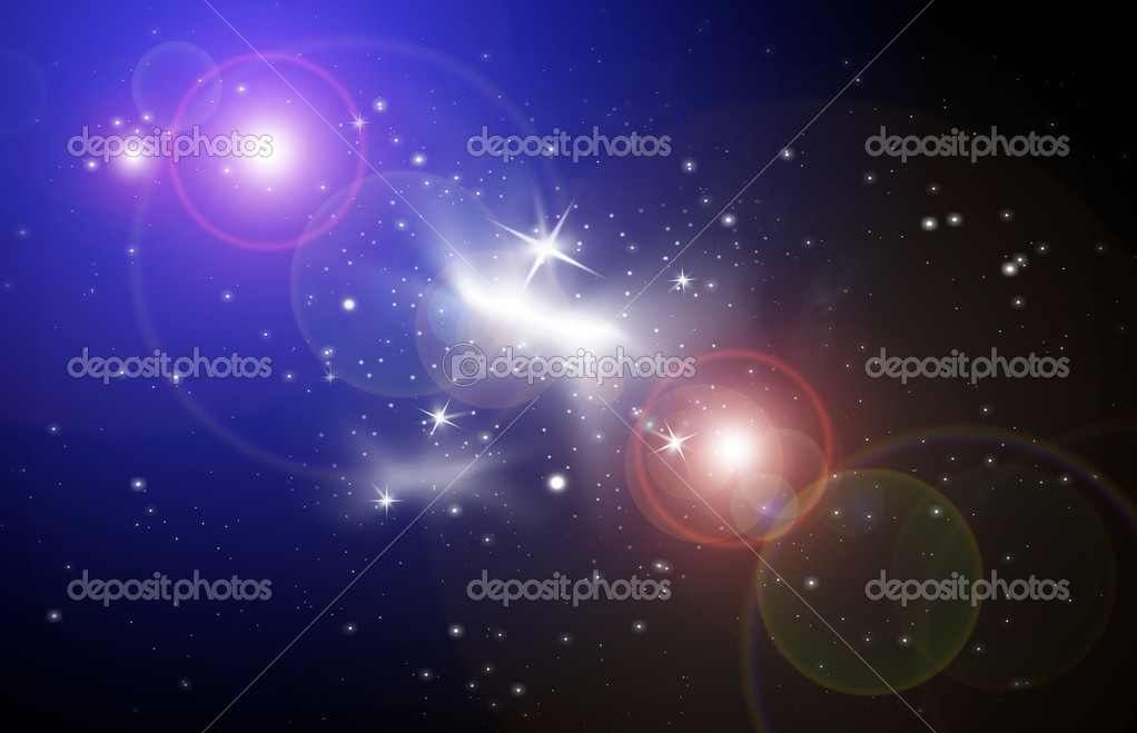 Stellar light in space,  the star sky of flash, light — Stock Photo #4094396