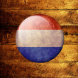 Stock Photo: Grunge netherlands Flag on a wooden background