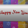 "Happy New Year"" in Framework — Foto de Stock"