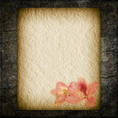 Textural old paper Flower — Stock Photo