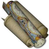 Rotolo carta tessiturale navigazione — Foto Stock