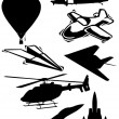 Airplane silhouette collection — Lizenzfreies Foto