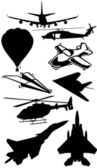 Airplane silhouette collection — Stock Photo