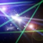 Stellar light in space — Stock Photo