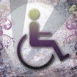 Handicap symbol of accessibility — Stock Photo