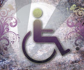 Handicap symbolem přístupnosti — Stock fotografie