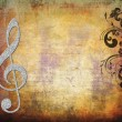 Musical key background in retro — Stock Photo #4311405