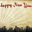 "Happy New Year"" in old Framework — Stock Photo"