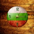 Vintage clock with arrows- bulgaria — Foto Stock