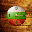 Vintage clock with arrows- bulgaria — Stock Photo