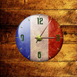 Stock Photo: Vintage clock with arrows- france