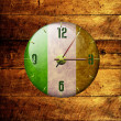 Vintage clock with arrows- ireland — Stockfoto #4339710