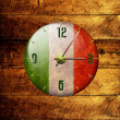 Vintage clock with arrows- italy — Stock Photo