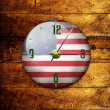 Vintage clock with arrows- America — Stock Photo
