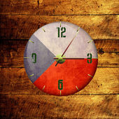 Vintage clock with arrows- czech republic — Stock Photo