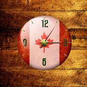 Vintage clock- canada — Stock Photo