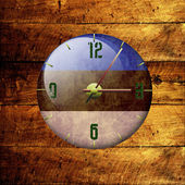 Vintage clock with arrows- estonia — Stock Photo