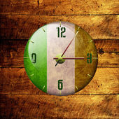 Vintage clock with arrows- ireland — 图库照片