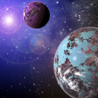 Stock Photo: Planet in space
