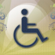 Handicap symbol of accessibility — Stock Photo #4379968