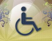 Handicap symbol of accessibility — Stock Photo