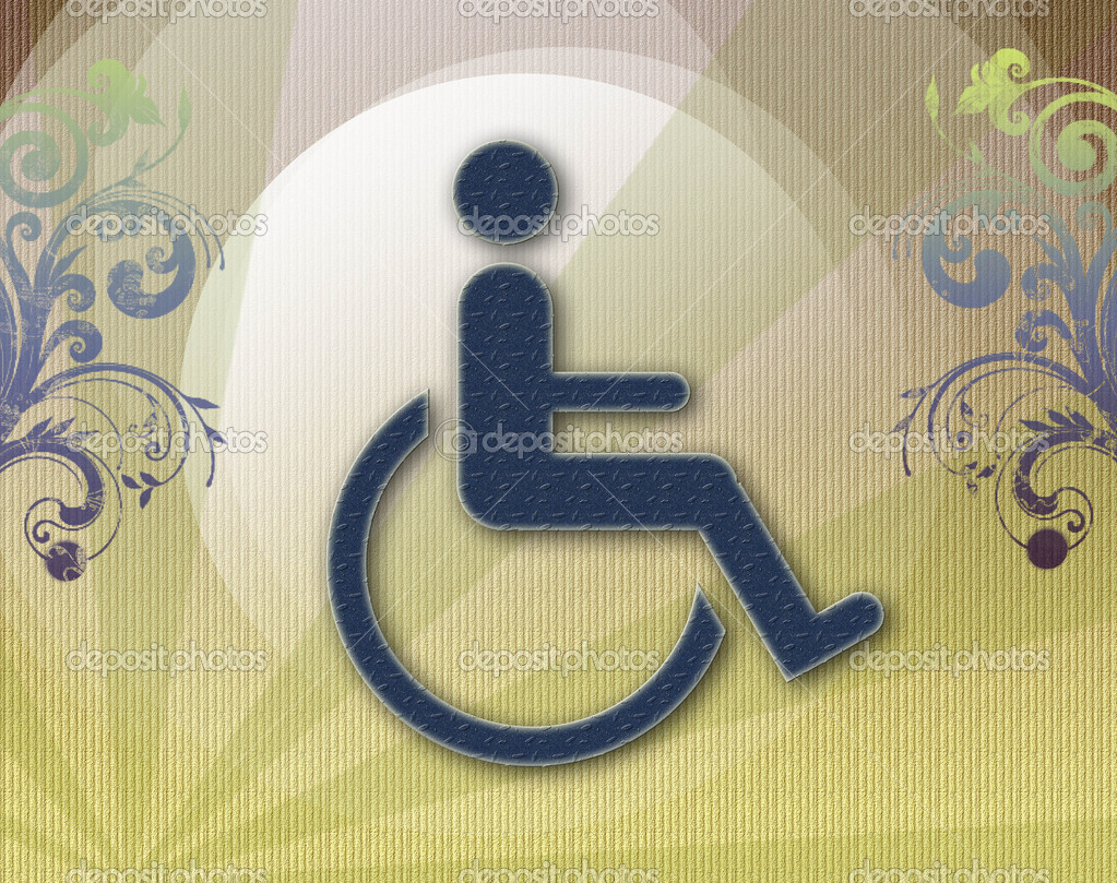 Handicap symbol of accessibility, background  — Stock Photo #4379968