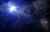 Stellar light in space — Stock Photo