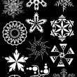 Snowflakes vector set — Stock Photo