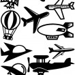 Airplane silhouette — Stock Photo