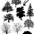 Vectoral tree silhouettes. — Stockfoto #4426330