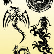Dragons silhouette  vector — Stock Photo